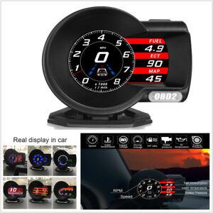 Car OBD2 Multi-function Gauge Head-Up Digital Display Speedometer RPM Oil Temp