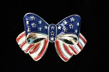 """""""Patriotic Bow"""" Pin by AVON - NEW In Box - USA"""