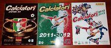 3 ALBUM VUOTI PANINI CALCIATORI 2010-11, 2011-12, 2012-13 VERSIONI OMAGGIO/FREE
