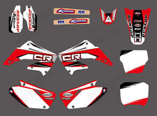 TEAM GRAPHICS DECALS FOR HONDA CR125 CR250 2002 03 04 05 06 07 08 09 10 11 12 D2