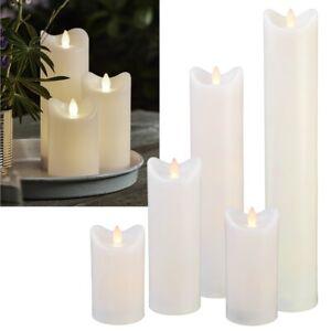 """LED Kerze für Außen """"BIANCO"""" mit Timer flackernd Kunststoff-Kerze Outdoor Garten"""