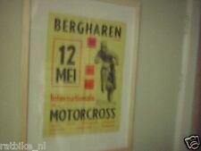 19-BERGHAREN MOTORCROSS POSTER 1963