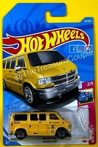 Hot Wheels 2021 - DODGE VAN - Yellow MoonEyes - New Release G case S2