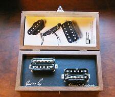 Nuevo Seymour Duncan zs-1s ZEPHYR Silver Pastilla Humbucker Conjunto de 2 Negro