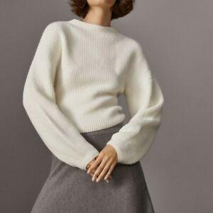 Massimo Dutti White Sweater Size XS