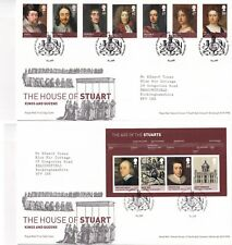 More details for first day cover gb 2010 house of stuart [tallents house] typed address uk