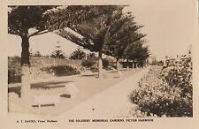 Postcard Soldiers Memorial Gardens Victor Harbour South Australia 1d green KGV