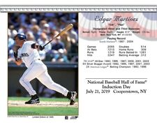 EDGAR MARTINEZ SEATTLE MARINERS 8X10 2019 HALL OF FAME INDUCTION DAY CARD