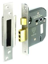 """BS3621 STAINLESS 5 LEVER MORTICE SASH LOCK 3"""" / 76mm + 3 KEYS"""