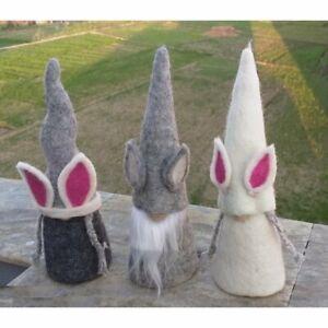 Nepalaya Easter Bunny Osterwichtel Gnome Felt Egg Cosy Fairtrade 3 Variations