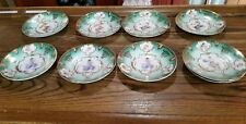 Victoria Austria  Porcelain Maiden 6 in plate/saucer,lot of 9 , Beehive mark
