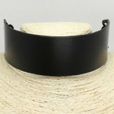 "12"" black 1.60""  wide collar choker necklace"