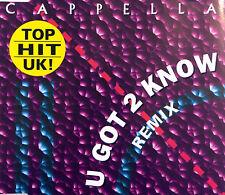 Cappella Maxi CD U Got 2 Know (Remix) - Germany (EX/VG)