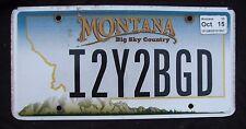"""Montana Vanity License Plate """"I2Y2BGD"""" ich versuchen, sein gutes Benehmen Nizza Typ GAL"""