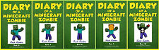 DIARY OF A MINECRAFT ZOMBIE Paperback Children's Series Collection Books 6-10!