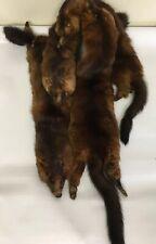 Vintage Ls Mink Stole Fur 4 Dead Animal Skins Clasp Glass Eyes Feet Pelts Woman
