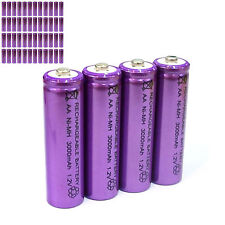 48 pcs AA LR06 3000mAh 1.2V NI-MH rechargeable battery CELL/RC MP3 SILVER PURPLE