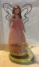 Russ Berrie Country Gathering Friends Forever Angel And Bunny Figurine
