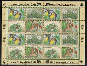 A-17) United Nations Vienna Number 196 - 199 - MNH Minisheet Endangered Species