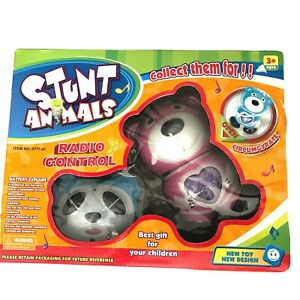 New In Box RC Stunt Animals 2 Toy Bears With Rotation & Circumgyration