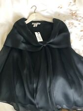 Paul & Joe Stunning  Black Silk Short Sleeved Top new with tags RRP £410.00