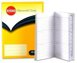 RHINO Homework School Diary 84 Pages 5 & 6 Days Week