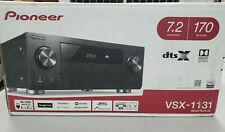 Pioneer VSX-1131(B) AV Receiver Dolby Atmos  DTS X 5.2.2-7.2 4k HDR ARC HDMI USB