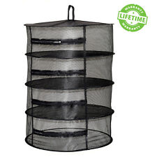 Dry Net w/ Zipper 2ft 4 Layers Hanging Black Hydroponic Dry Herb Drying Rack