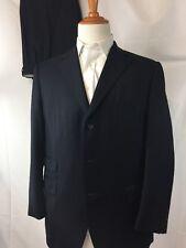 Samuelsohn Size 42R Blazer Blue Herringbone 3-Button Suit 36W Pants