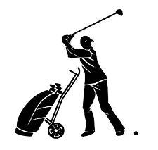 Golfer vinyl car Decal / Sticker