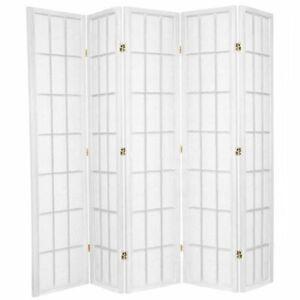 Shoji Room Divider Screen White 5 Panel