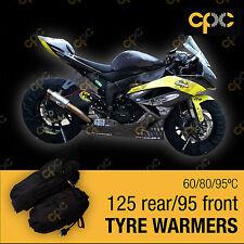 Black Motorbike TYRE WARMERS set motor bike race track motorcycle TIRE WARMER D3