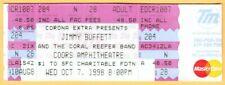 1998 Jimmy Buffett concert ticket Coral Reefer Band Coors Amphitheatre Californi