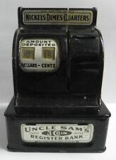 Vintage Uncle Sam's Register Black Bank 3 Coin Durable Toy & Novelty Corp