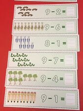 Subtraction Wipe N Write Strips - Math Manipulative - Homeschool Preschool