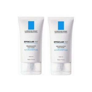 2 PCS La Roche-Posay Effaclar Mat Oil Free Mattifying Moisturizer 40ml