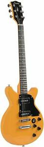 Firefly FFDCD SolidBody ElectricGuitar(Yellow)KILLERBUNDLE.think LesPaul Special