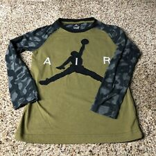 Air Jordan Jumpman boys long sleeve shirt small 8-10 yrs camo green