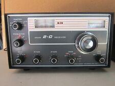 R.L. Drake Model 2-C shortwave receiver with MS-4 Speaker - Serial #2536