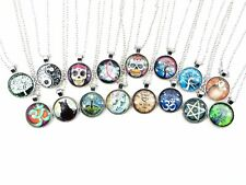 US SELLER-12 pieces OM skull cat owl necklaces wholesale Cheap Jewelry in Bulk