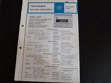 Schaltbild  Service Informationen Telefunken  Steuergerät R 205