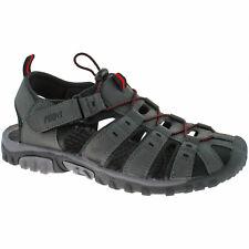 MENS PDQ CLOSED TOE SPORTS SANDALS SIZE UK 4 - 12 WALKING TRAIL GREY M040F KD