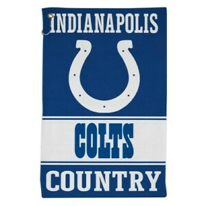 """INDIANAPOLIS COLTS ALL PURPOSE GOLF TAILGATE TOWEL 16""""X25"""" HOOK AND GROMMET"""