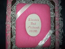 BAT MITZVAH Personalized Fabric Photo Album / Scrapbook
