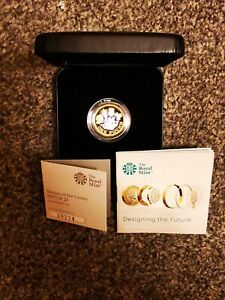 2017 £1 One Pound Silver Proof Coin Nations of the Crown Box Coa New