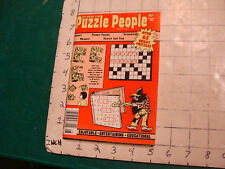 vintage UNUSED puzzle book: The Book for PUZZLE PEOPLE aug 1976; 98pgs
