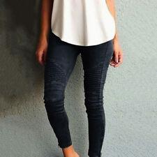 Damen Thermo Leggins Röhre Warm Hose Slim Jeans Optik Damenjeans Jeggings 34-40