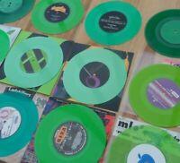"GREEN COLOURED VINYL SINGLES 45RPM 7"" VINYL RECORDS EX. COND SOME BRAND NEW"