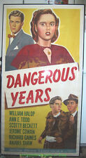 DANGEROUS YEARS MOVIE POSTER MARILYN MONROE First Film - Three Sheet 41x81 Inch