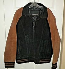Men's Serge Platini Full Zip Suede Leather Jacket  Size XL